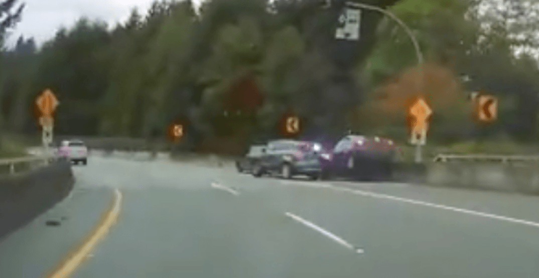 Cop car hit by distracted driver during distracted driving traffic stop: police (VIDEO)