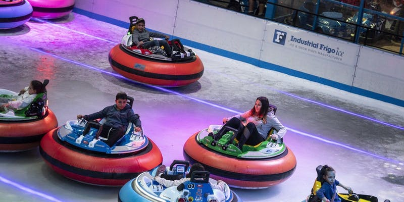 bumper cars on ice