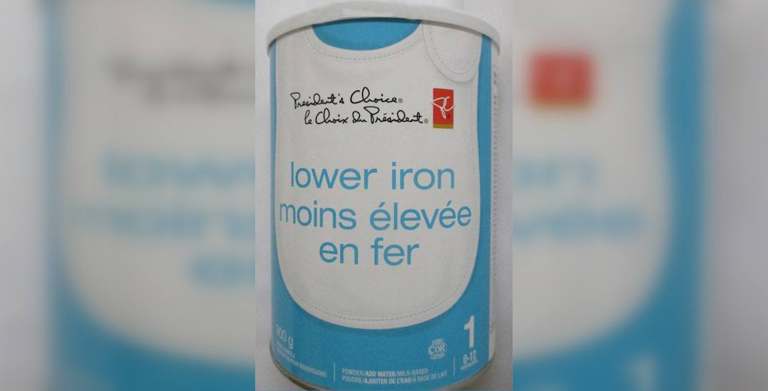 President's Choice infant formula being recalled: CFIA