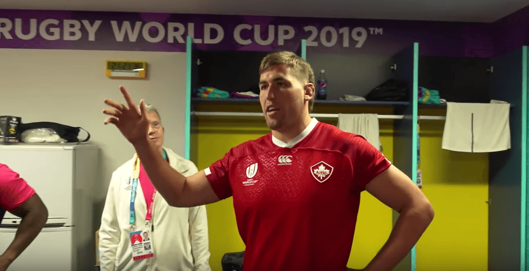 Canadian rugby player visits South African locker room to apologize (VIDEO)