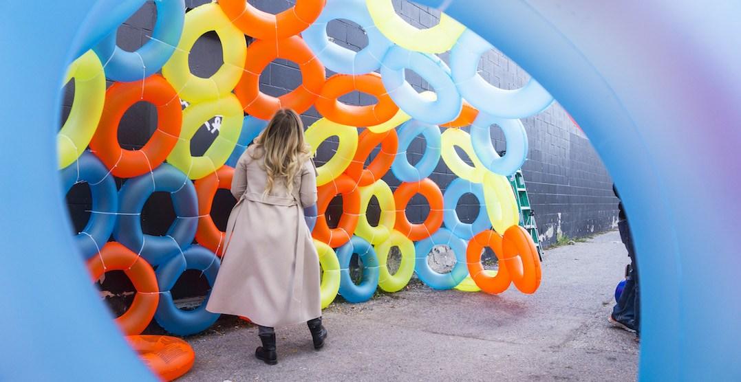 A free outdoor art exhibit has taken over this Toronto neighbourhood