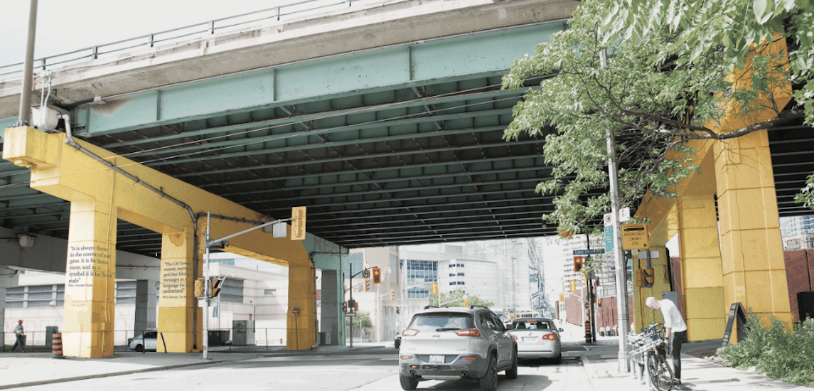 The Gardiner underpass is getting a golden makeover