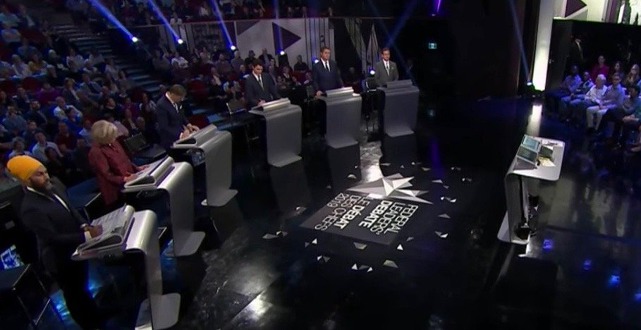 """Party leaders dish """"baloney"""" in French-language debate"""
