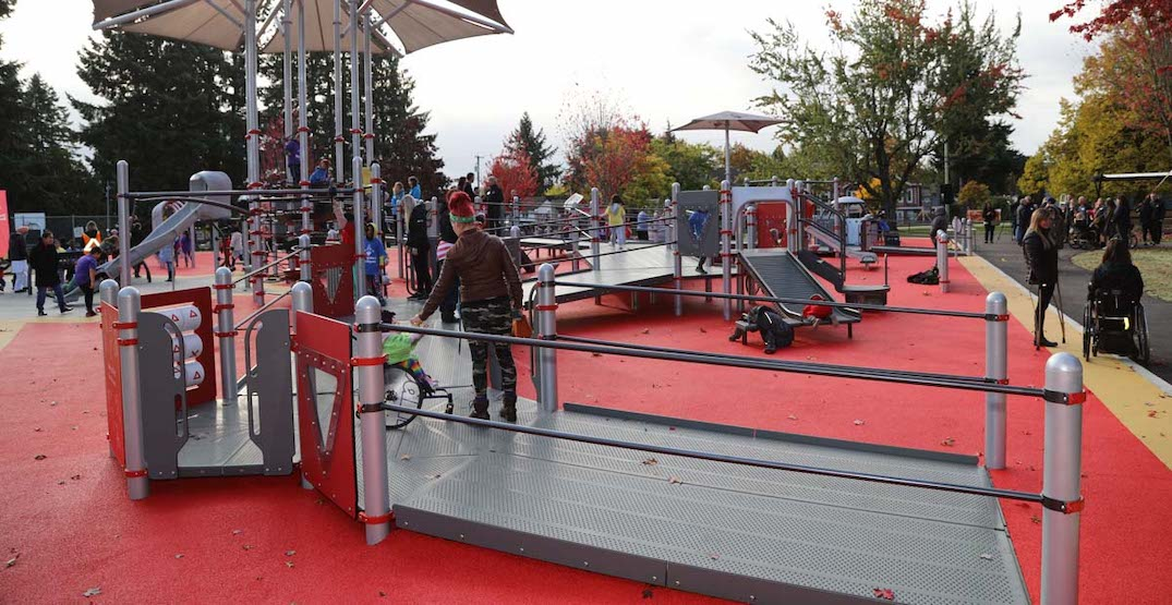 New playground for kids with disabilities opens in Surrey