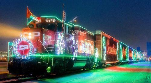 Christmas Montreal train