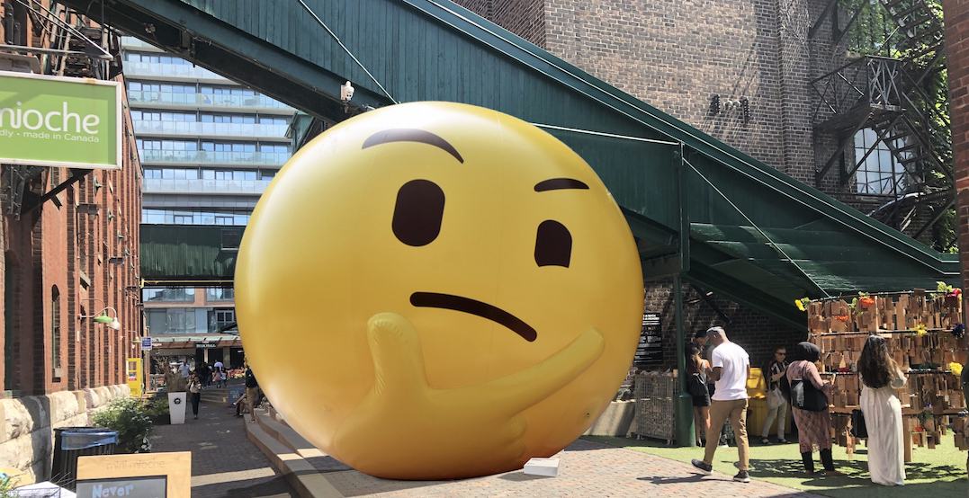 A giant emoji installation is coming to Toronto this weekend
