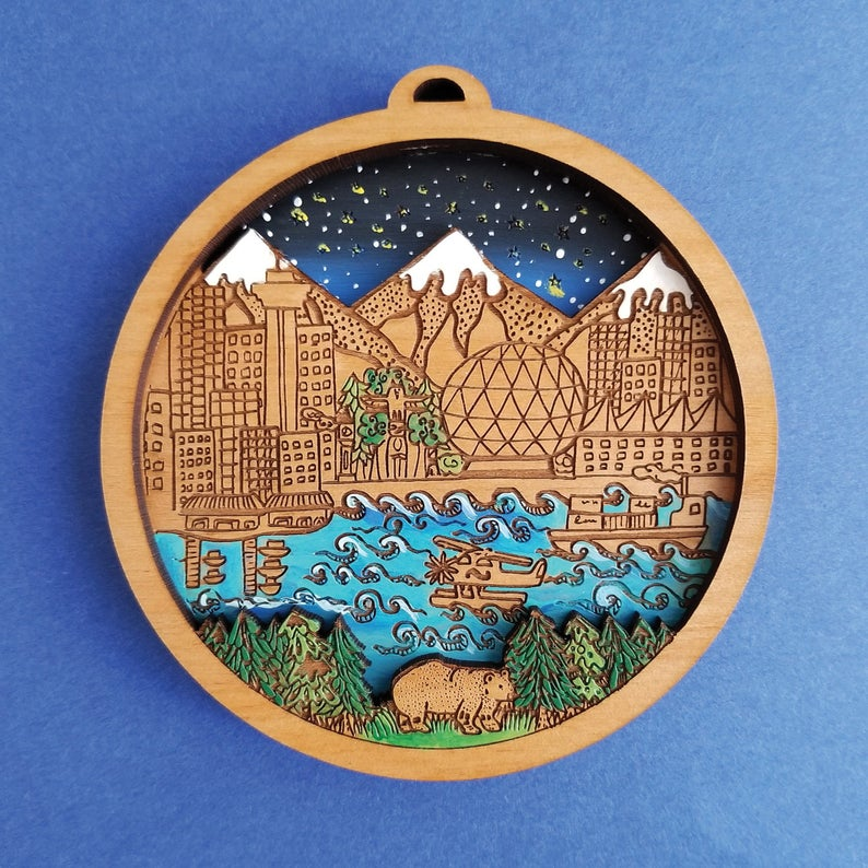 Vancouver Christmas ornament / Etsy