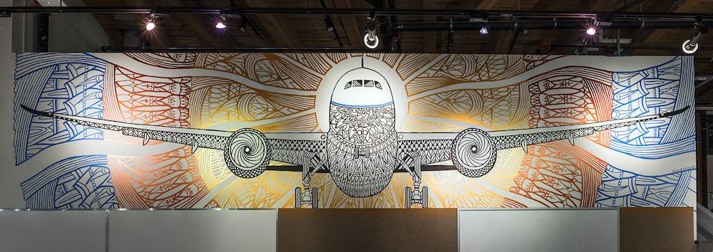 Pellvetica mural Boeing