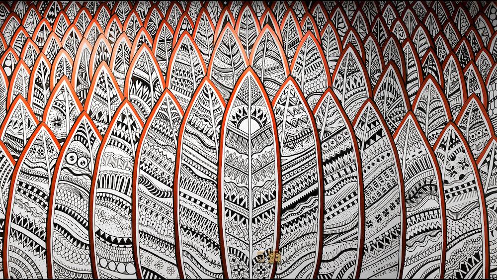 Pellvetica mural Hootsuite