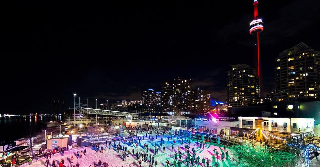 Toronto's scenic outdoor waterfront skating rink opens next month