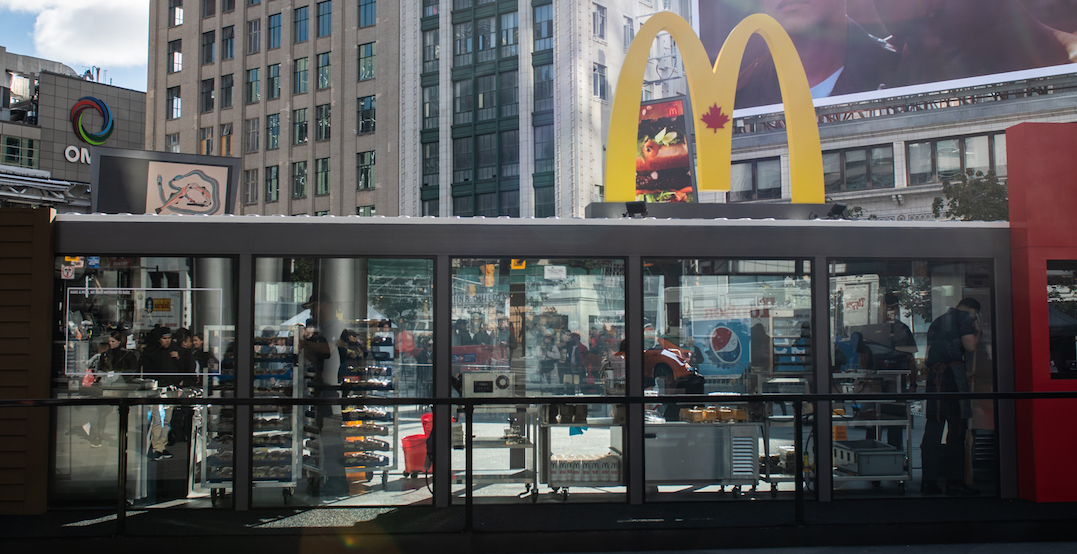 See-Thru McDonald's serving FREE Big Macs downtown right now