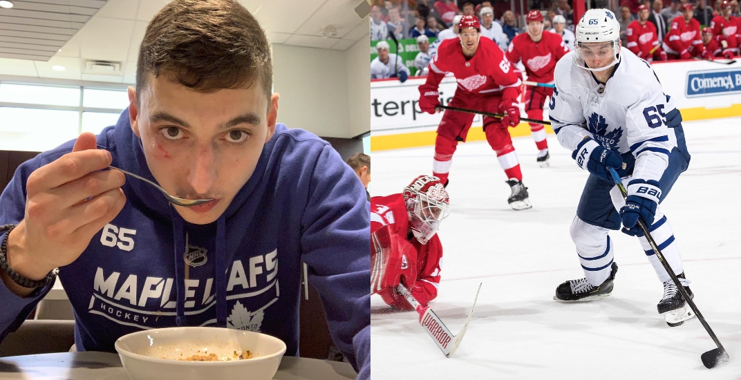 Soup-loving Mikheyev has been a great surprise for the Leafs this season