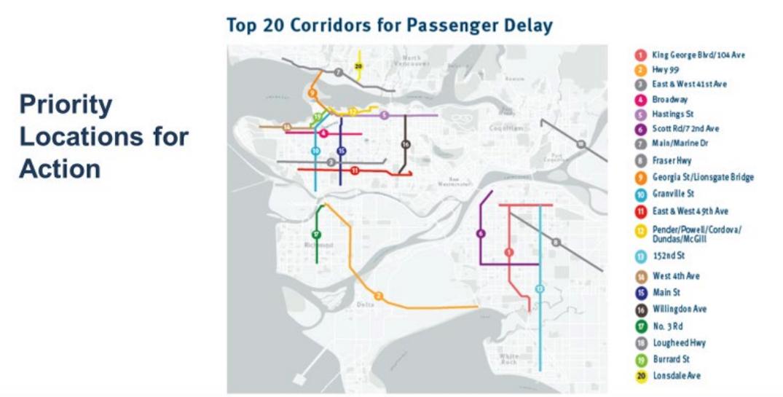 TransLink bus corridors delayed