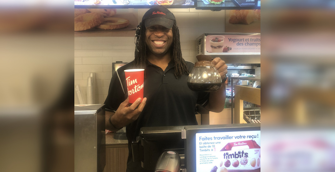 Georges Laraque defends Donald Brashear with a visit to Tim Hortons