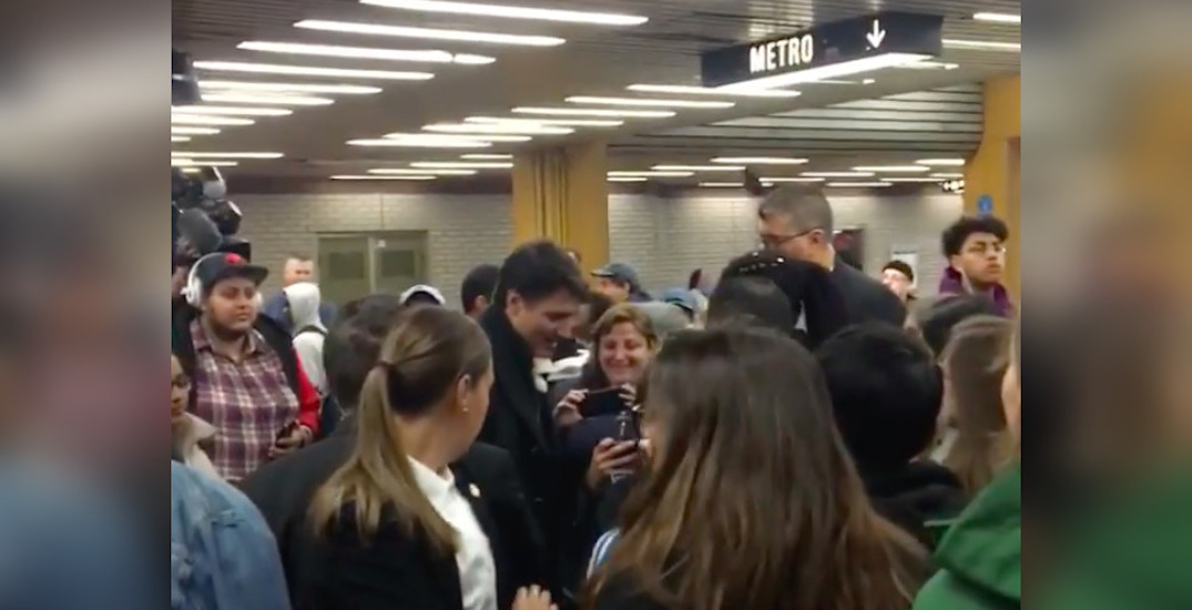Justin Trudeau spotted at Montreal metro station this morning (PHOTOS)