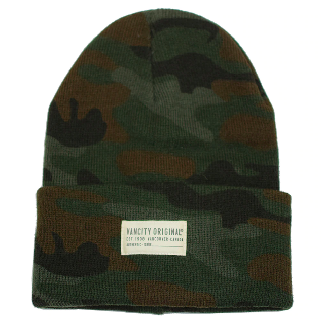 Authentic Issue Camo Beanie / Vancity Original