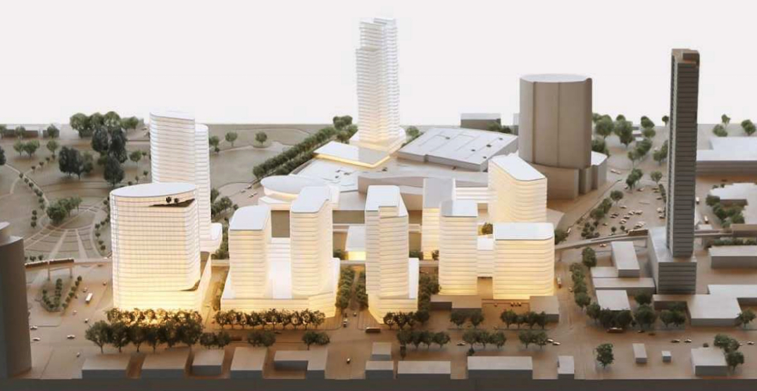 New redevelopment concept with 10 towers for Surrey's Central City mall