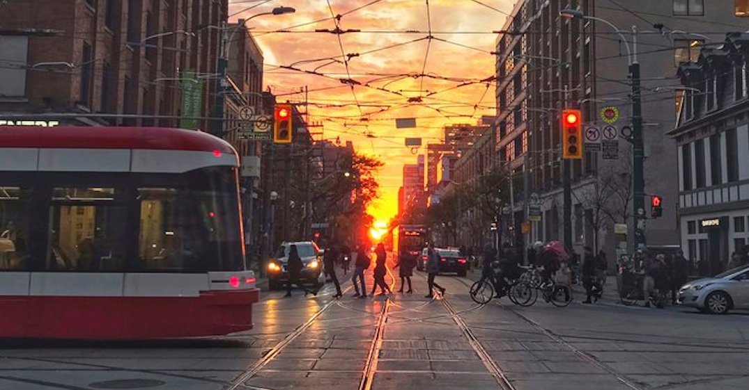 Toronto's best sunset of the year will happen this week (PHOTOS)