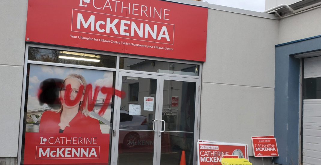 Liberal MP Catherine McKenna's office defaced with vulgar graffiti