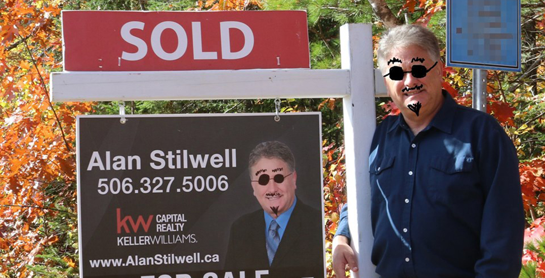 Canadian realtor goes viral after hilarious response to vandalized sign