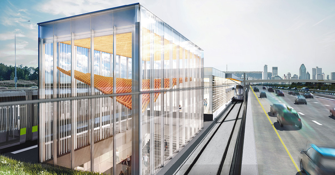Here's what some of Montreal's light rail train stations will look like (RENDERINGS)
