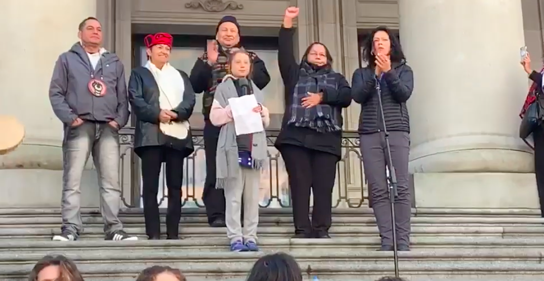 """Greta Thunberg calls continuing climate strikes """"hopeful"""" while in Vancouver (VIDEO)"""
