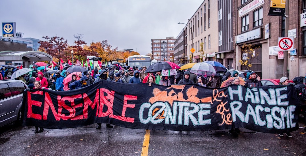 16 pics from yesterday's protest against racism and Bill 21 (PHOTOS)