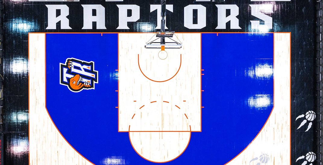 Raptors unveil retro court in time for tonight's throwback jersey game (PHOTOS)