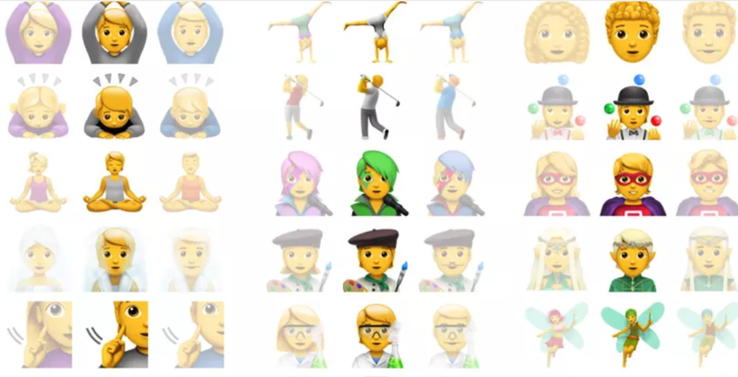 Gender neutral emojis have officially arrived in Apple's latest iOS update