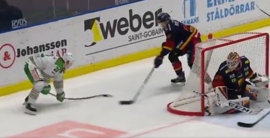Canucks prospect Hoglander scores jaw-dropping lacrosse-style goal in Sweden (VIDEO)