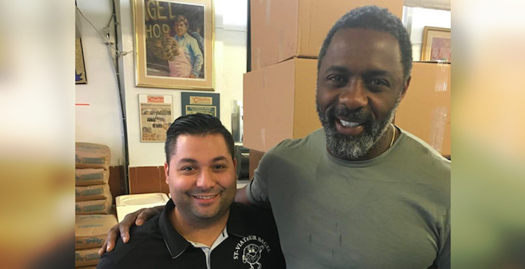 Idris Elba stopped by this popular Montreal bagel shop yesterday (PHOTO)