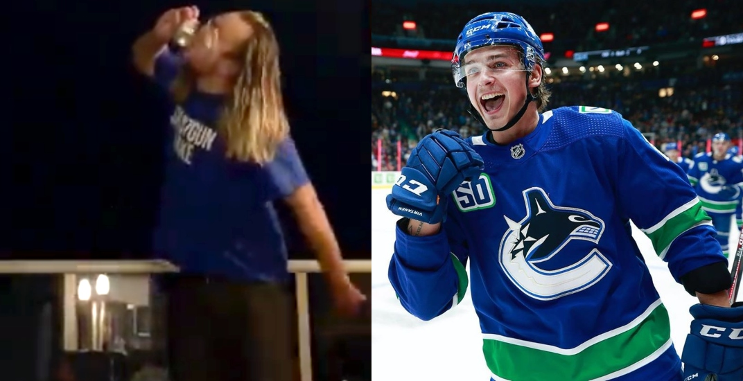 Meet the beer-drinking Canucks fan made famous by the Shotgun Jake movement