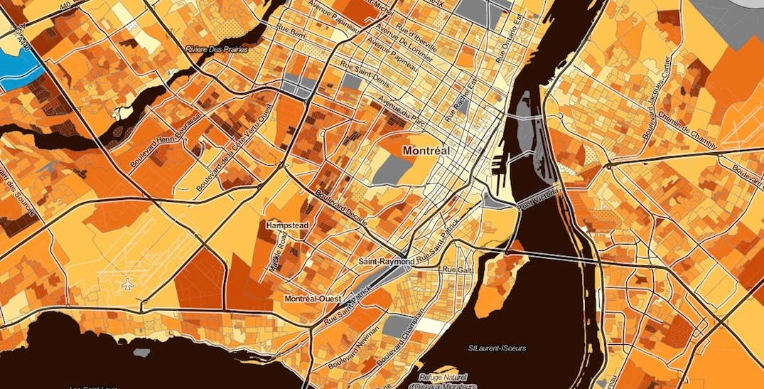 Map forecasts the number of trick-or-treaters you can expect around Montreal