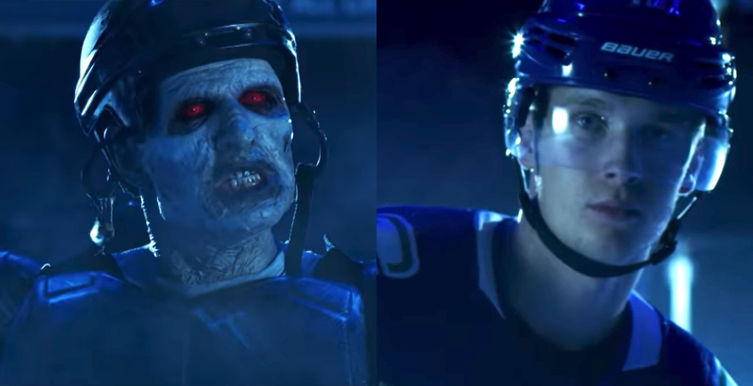 Watch the Canucks' epic new in-arena zombie film (VIDEO)
