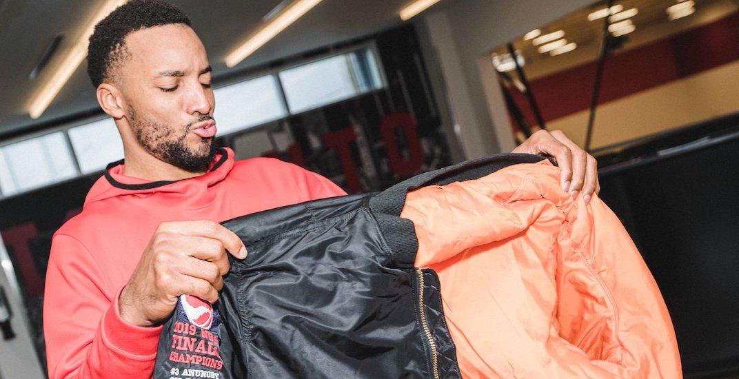 Drake outfits Raptors players in custom NBA championship jackets (PHOTOS)