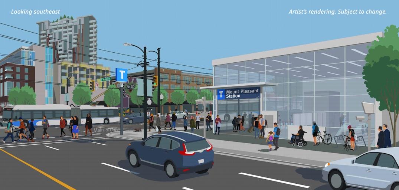 SkyTrain Millennium Line Broadway Extension Subway Mount Pleasant Station