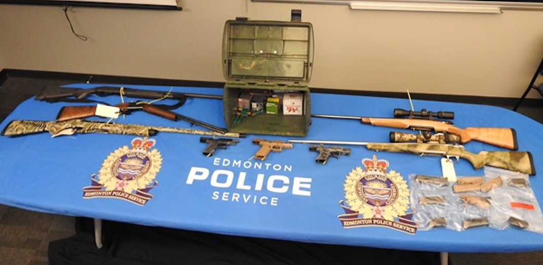 A man has been charged with trafficking firearms in Edmonton