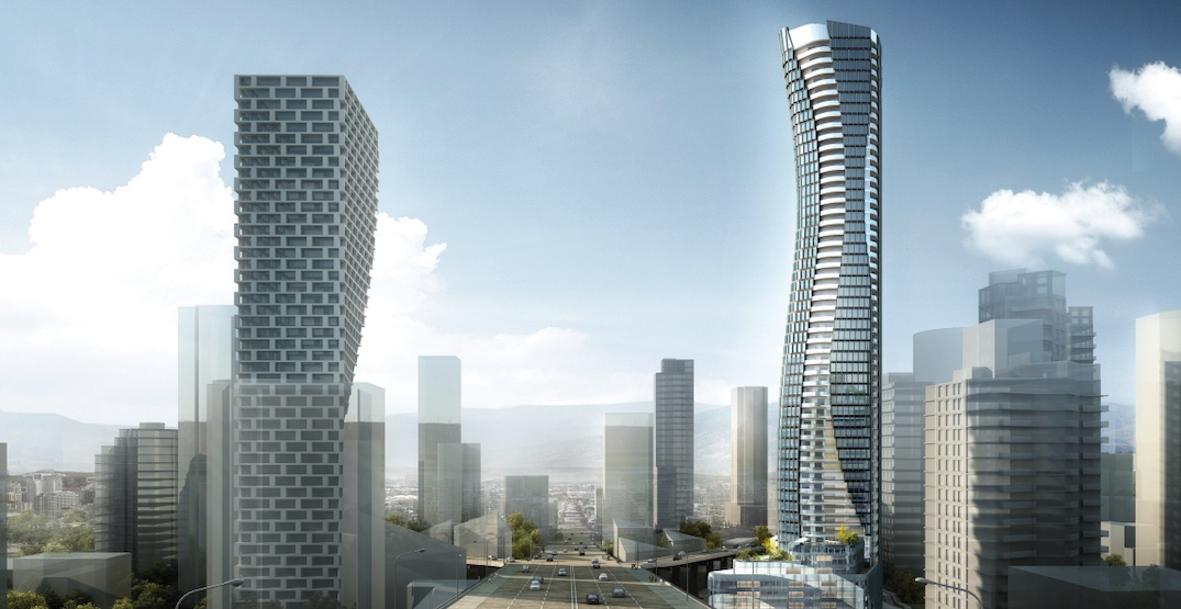 Taller height for proposed gateway tower next to Granville Bridge (RENDERINGS)