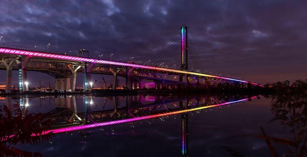 Take a look at the new fully illuminated Champlain Bridge (PHOTOS)