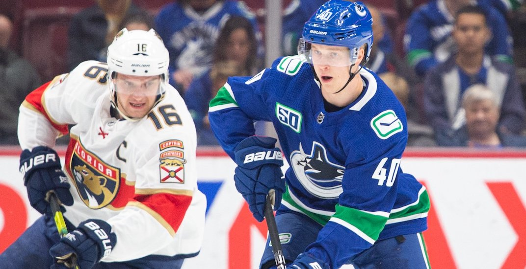Canucks' Elias Pettersson named NHL's First Star of the Week