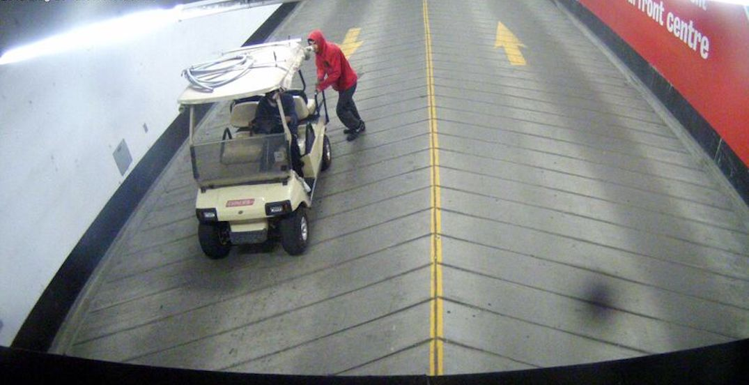 2 men wanted for allegedly stealing golf cart from Harbourfront Centre (PHOTOS)