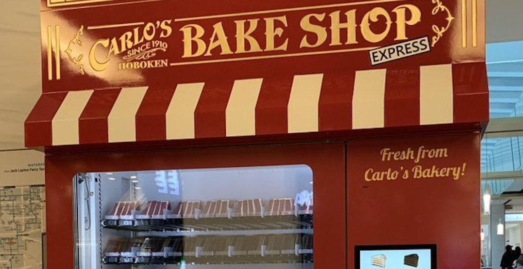 Cake Boss' Carlo's Bake Shop just dropped vending machines into the PATH
