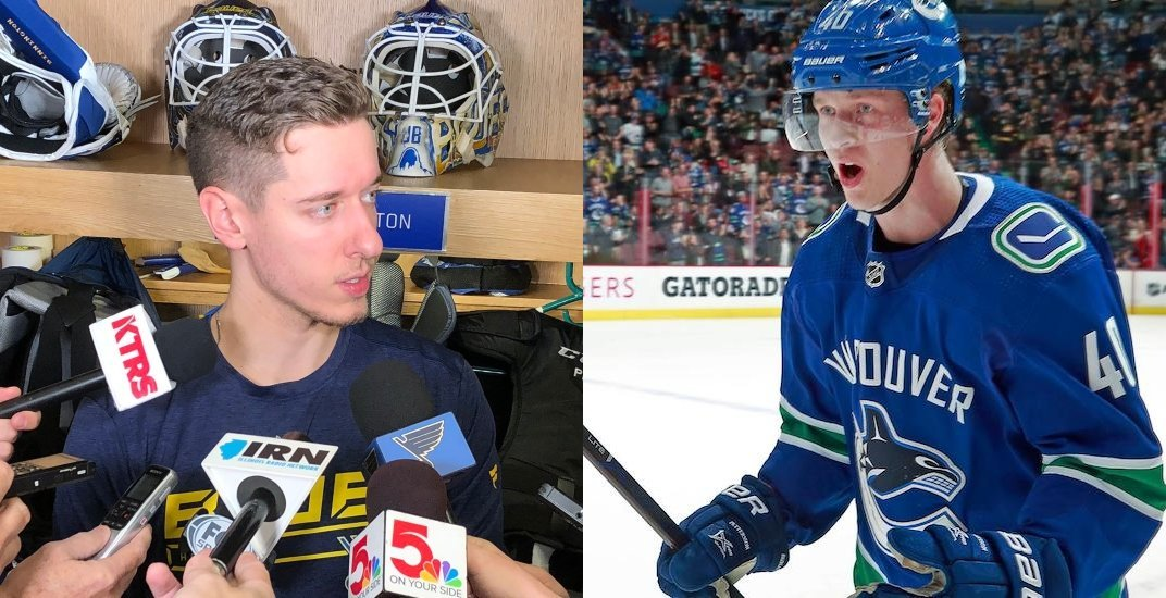 Blues' Binnington says he deserved Rookie of the Year, not Canucks' Pettersson