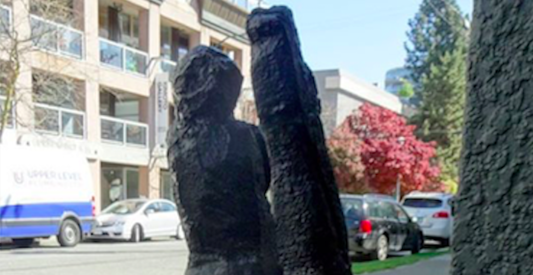 Someone stole a $24K bronze sculpture from outside a Vancouver art gallery