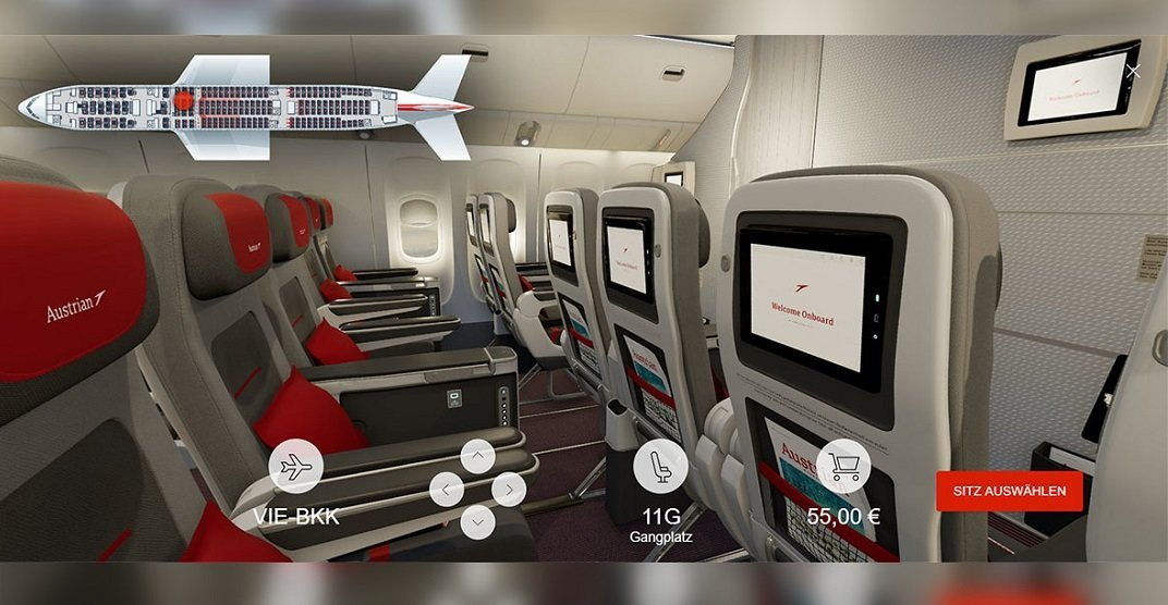 Booking made easy: Austrian Airlines unveils new 3D seat map