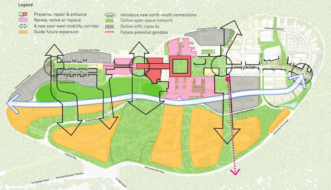 SFU Burnaby Mountain campus master plan
