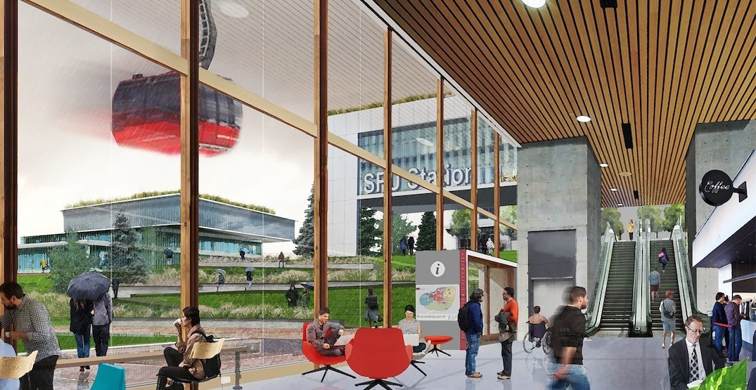 Gondola public transit line integral to new SFU Burnaby Mountain campus master plan