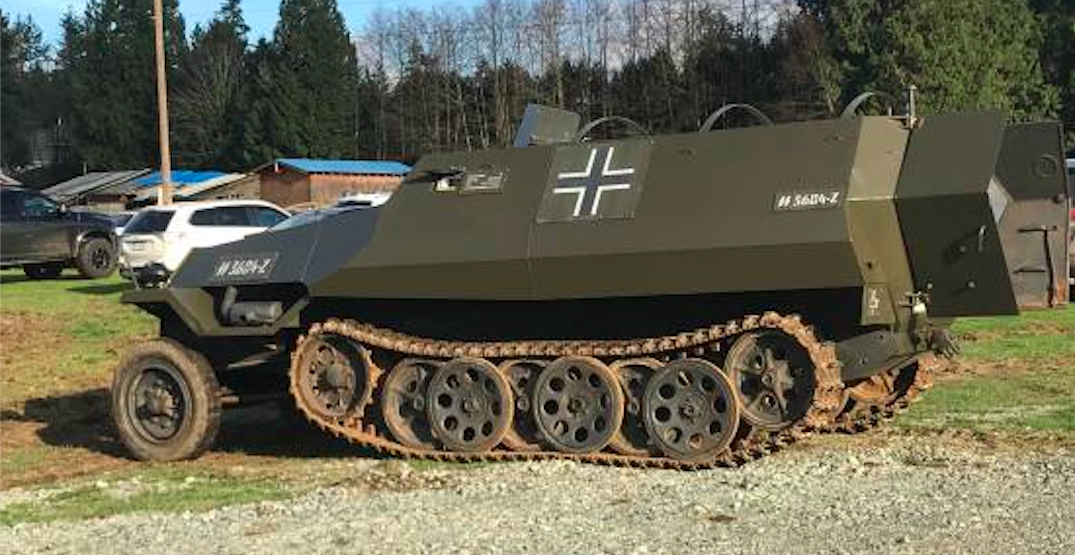 Someone is selling this WWII-era armoured vehicle in Metro Vancouver (PHOTOS)