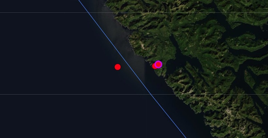 Trio of earthquakes up to magnitude 4.7 detected on BC coast