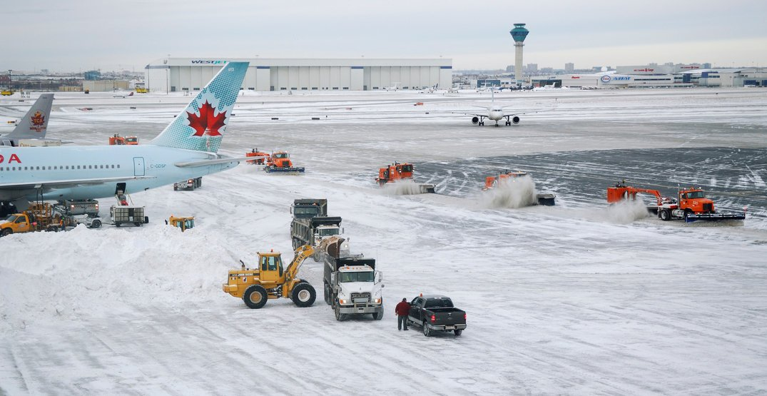 Monday's major snowfall causing delays and cancellations at Toronto Pearson Airport